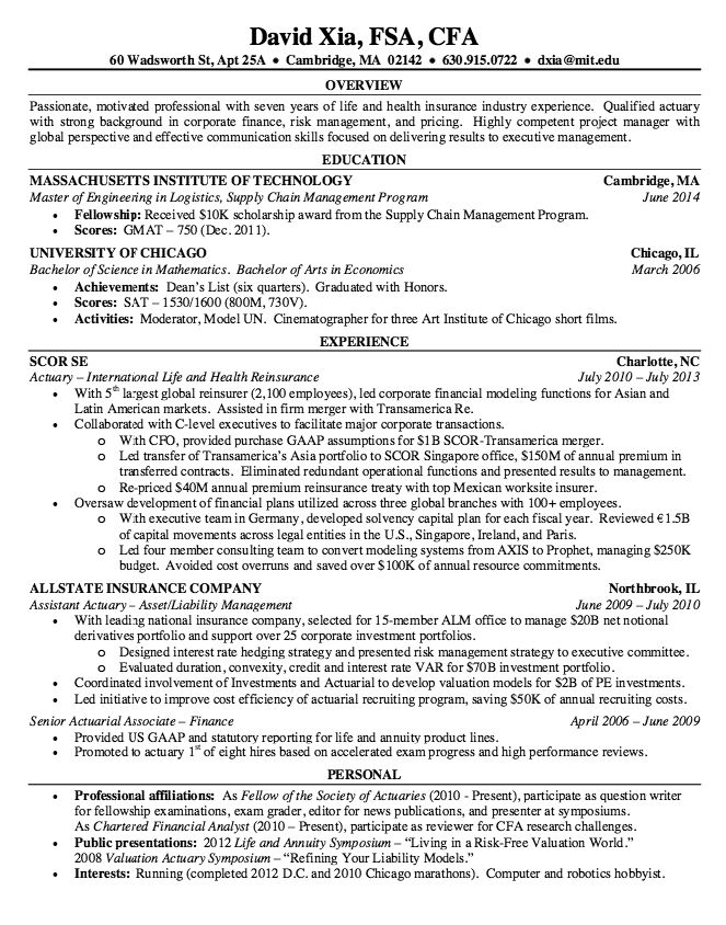 sample resume assistant actuary httpresumesdesigncomsample resume