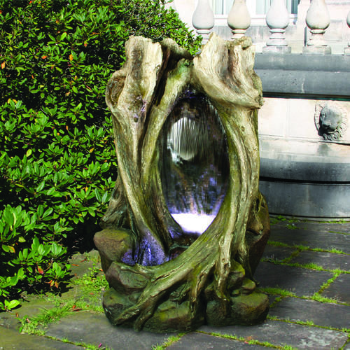 25+ Tree Stump Landscaping Water Fountains Pictures and