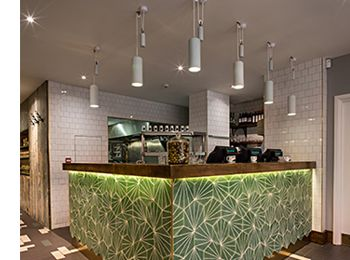 Porcelain lamp in the new GBK in London,  Covent Garden. Interior done by Moreno: Masey.