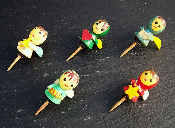 Cute Vintage Cake Decorations Candleholders by IngliVintage