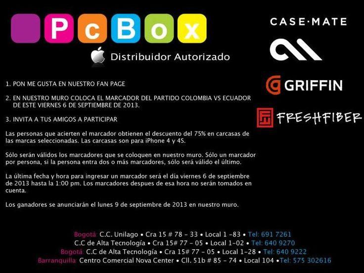Participa y gana en nuestro Facebook https://www.facebook.com/PcBoxColombia