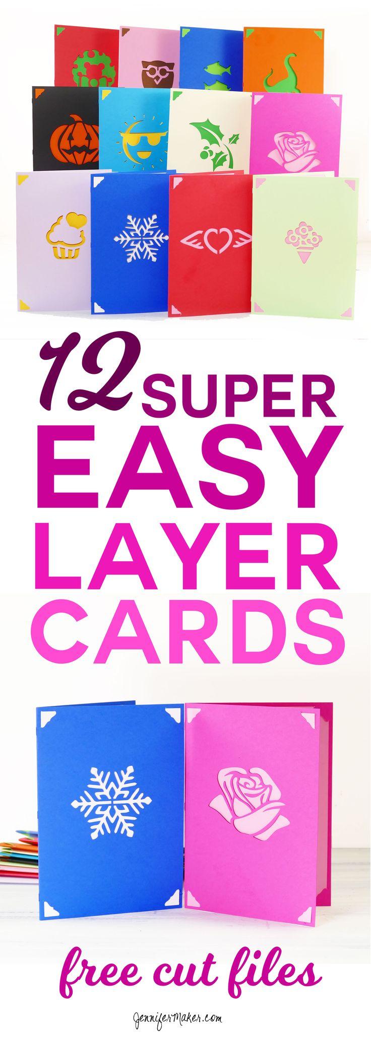 DIY Greeting Card Set Fast, Easy Layers! Jennifer