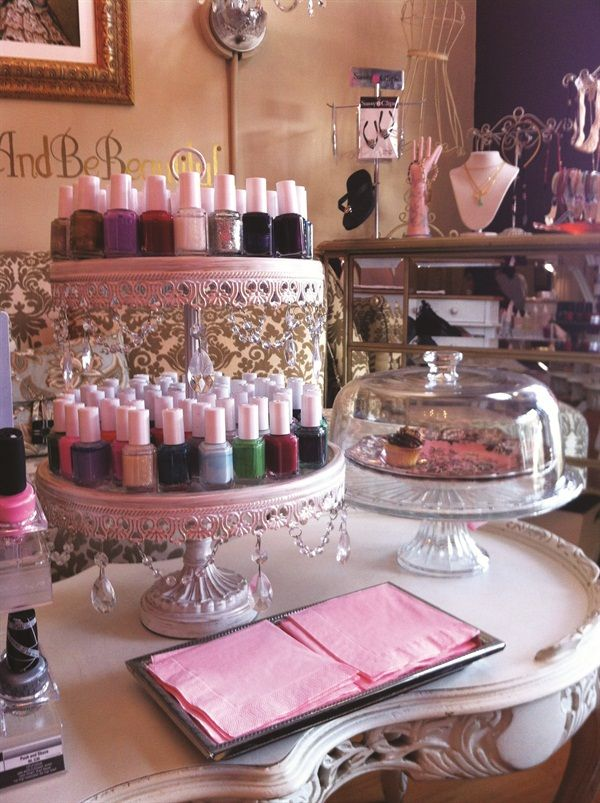 Steal These Storage Solutions Salon Design On A Dime Pinterest Nail Salon Decor Salons