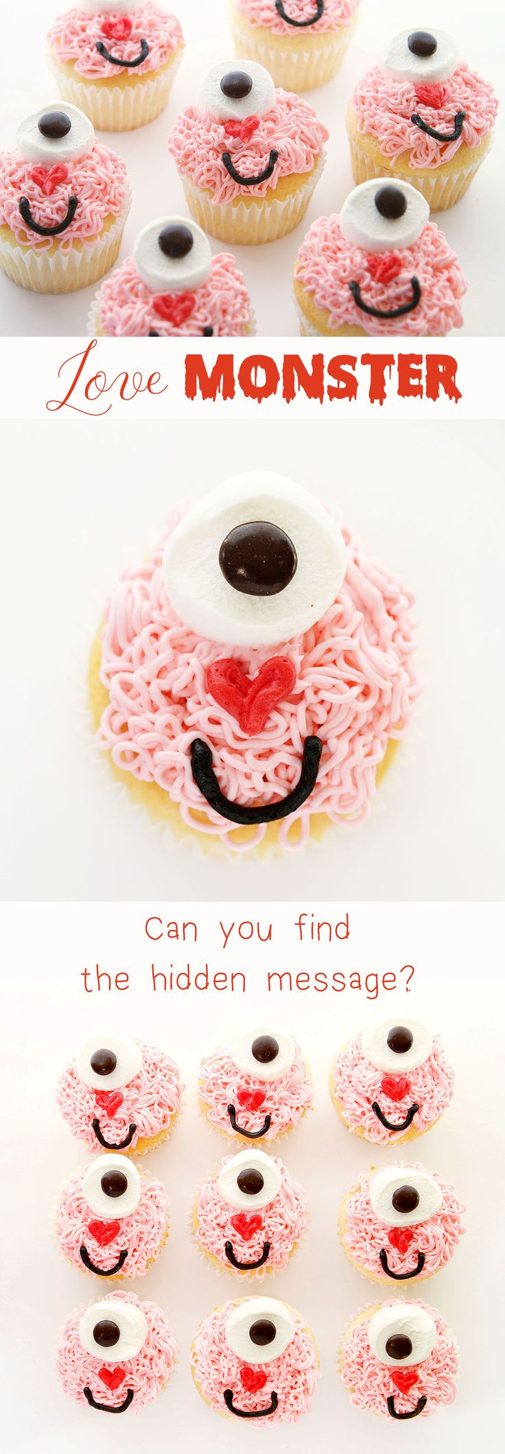 SUPER easy and delicious! This is a fun and easy way to surprise anyone you love… there is even a secret message in the design! Great cupcake DIY instructions for Valentine's Day or a child's birthday party.