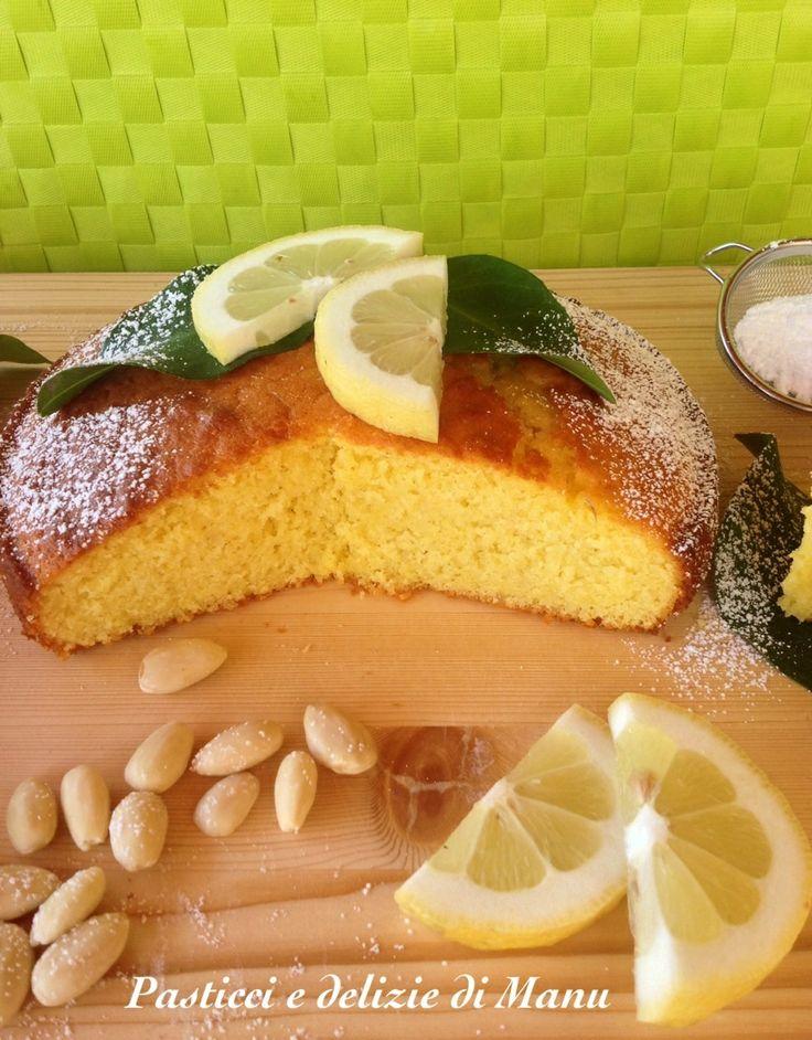 Una torta soffice con tutta la cremosita' dello yogurt...frizzanti limoni e la delicatezza delle mandorle...ideale in tutte le stagioni per la colazione e la merenda di grandi e piccini!!