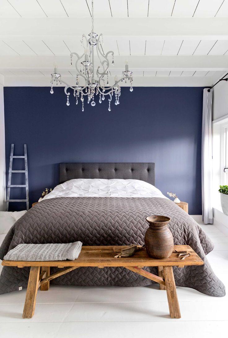 25 beste idee n over blauw slaapkamer decor op pinterest blauwe slaapkamer blauwe - Verf grijs slaapkamer en blauw ...