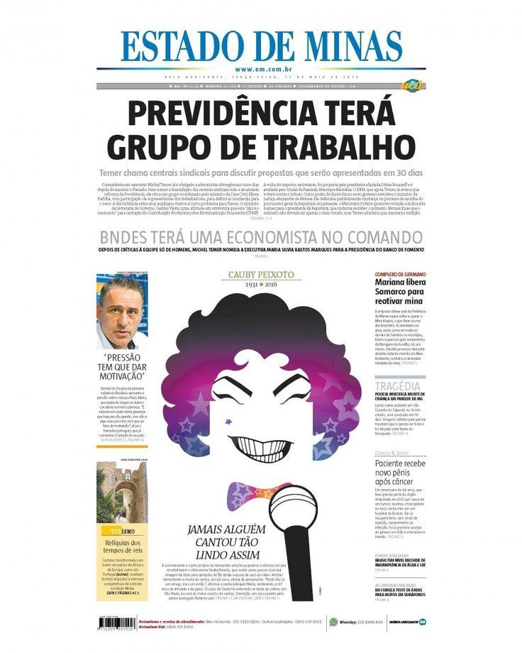 Bom dia! Confira a capa da edição impressa do jornal Estado de Minas desta terça-feira 17 de maio. Leia mais no em.com.br #CapaEM #EstadoDeMinas #FrontPage #News #Notícias #PrimeiraPágina by emimagem