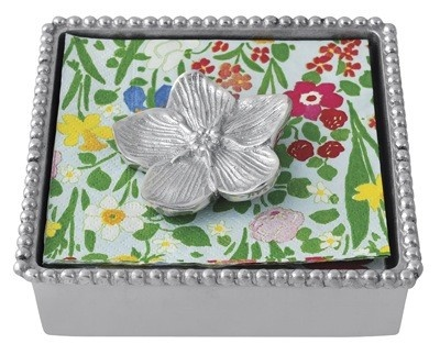 Mariposa Beaded Napkin Box with Forget-me-not Weight Sale! Mariposa Beaded Napkin Box with Forget-Me-Not Weight. Handcrafted of sandcast aluminum.  sc 1 st  Pinterest & 31 best Mariposa Dinnerware images on Pinterest | Dinner ware Sand ...