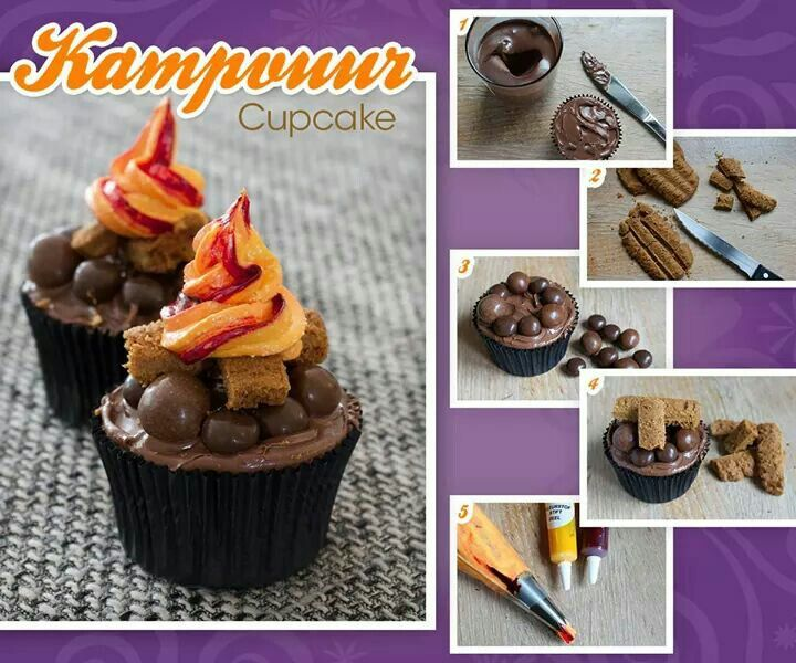 Kampvuur cupcake