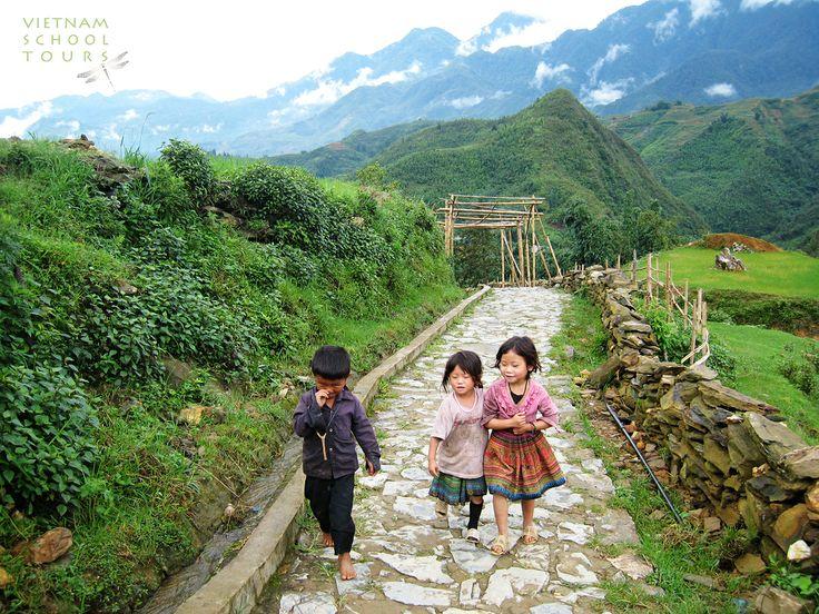 Little children on their way home #sapa #children #people