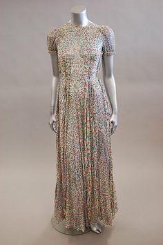 Ossie clark maxi dress