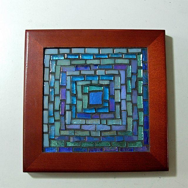 crafty ideas modern coasters. Striped Blue Log Cabin Mosaic Trivet  Flickr Photo Sharing 97 best coasters images on Pinterest art