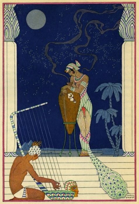 Egypt. The Romance of Perfume, Richard Le Gallienne, 1928.  Illustrations by George Barbier