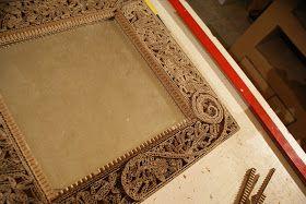Meuble et objet en carton de chez Cart'Art .Le Cart'El d'Adele: Tuto miroir en dentelle de carton.