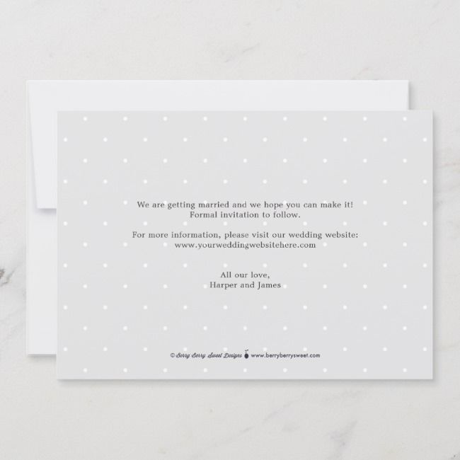 Happy Ending Editable Color Save The Date Card Zazzle Com Save