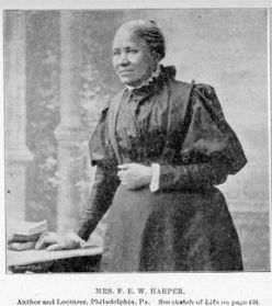 France's Ellen Watkins-Harper... The First published African American Author.