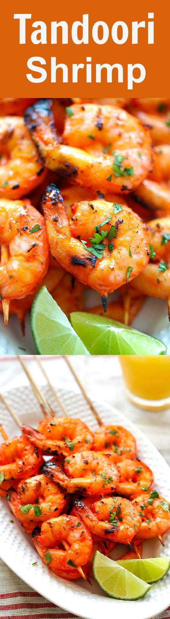 Tandoori Shrimp - perfectly marinated and grilled Indian Tandoori shrimp skewers. Super easy recipe that yields the most delicious shrimp ever | rasamalaysia.com