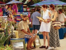 Eumundi Markets on a Wednesday or Saturday. Where I buy my favourite corn fritters. Shhhh!