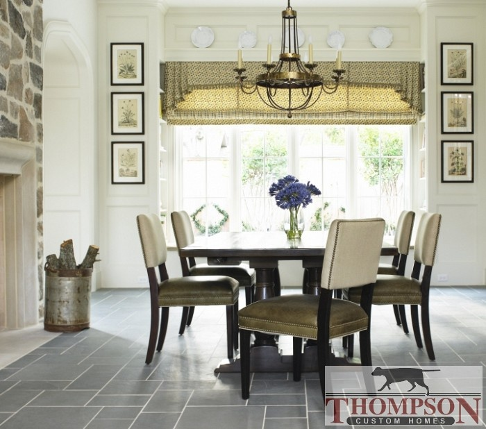 CHAIRS: Breakfast Rooms,  Boards, Thompson Custom, Traditional Dining Rooms, French Interiors, Dining Table, Dining Chairs, Paintings Colors, Custom Home