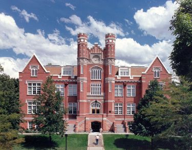 Westminster College in Salt Lake City- My alma mater. I had a painting studio on the top floor of Converse Hall. This building used to be painted pink.