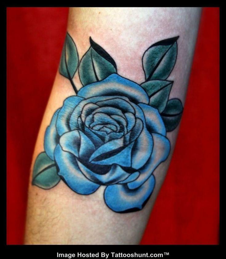 Light Blue Flower Tattoos
