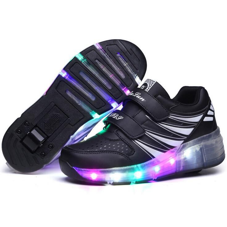 Kids Girls Shoes Children Wheely's Roller Shoes Kids Sneakers with Wheels Boys LED Light Up Shoes zapatillas deportivas hombre