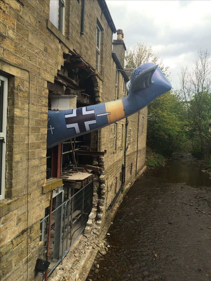 The floods won't beat us - novelty use of damage for 1940s weekend