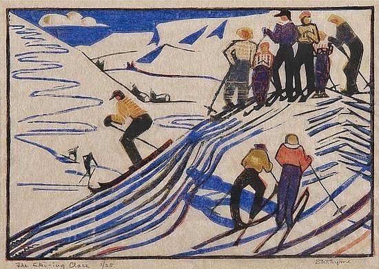 Eveline W. Syme (1881-1961) The Ski-ing Class (c.e.s. 22)