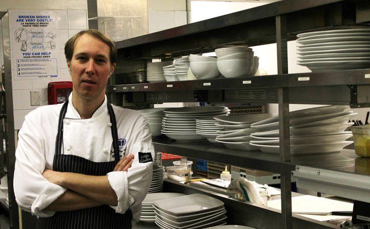 Julian Owen-Mold executive chef at the Hilton's Cinnamon Bear Grille.