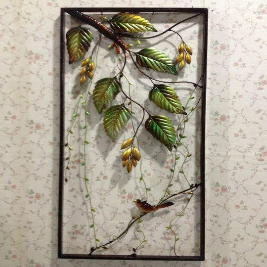 欧式创意铁艺壁饰壁挂发财树家居客厅背景墙面装饰品立体墙饰挂饰