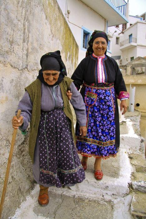 Local women from Olympos, Karpathos...