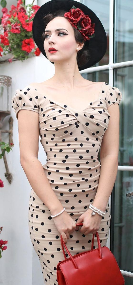 Classic retro polka dot dress