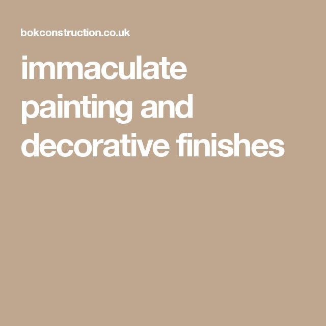 immaculate painting and decorative finishes