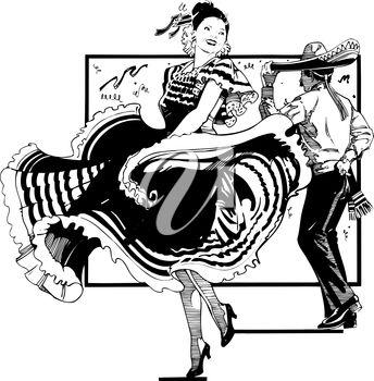A Spanish dancer