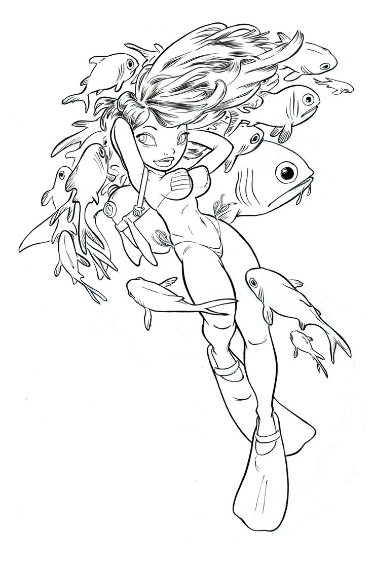 Chris Sanders -  Scuba Girl 1