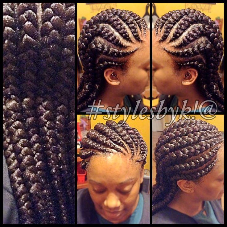 Jumbo Ghana cornrows using xpressions braiding hair