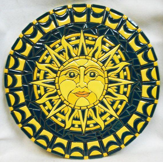 Original Mosaic Wall Art Handmade Ceramic by HouseofWhisperingFir