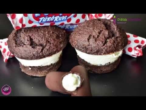 Túró rudi ízű muffin