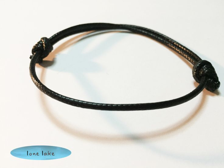 A personal favorite from my Etsy shop https://www.etsy.com/listing/230592924/black-bracelet-black-wax-cord-bracelet