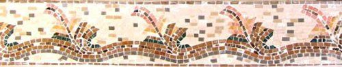 """6"""" Mosaic Border Tile Wall Floor Bath Home Decor Tiles by Mozaico. $35.00. Uses and display locations are unlimited!. Mesh backing. Completely hand-made. All natural stones. Design can be customized as to size and / or colors. Mosaics have endless uses and infinite possibilities! They can be used indoors or outdoors, be part of your kitchen, decorate your bathroom and the bottom of your pools, cover walls and ceilings, or serve as frames for mirrors and paintings."""