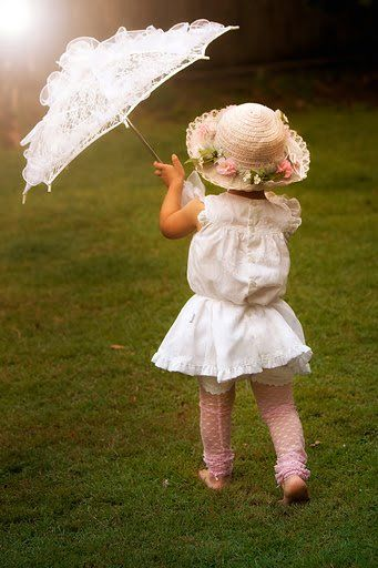 love the tights and parasol! wonder if we could recover umbrellas with lace?