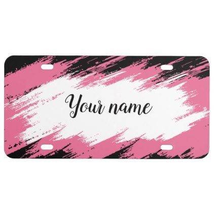Modern Ladies Monogram Design License Plate - girly gift gifts ideas cyo diy special unique