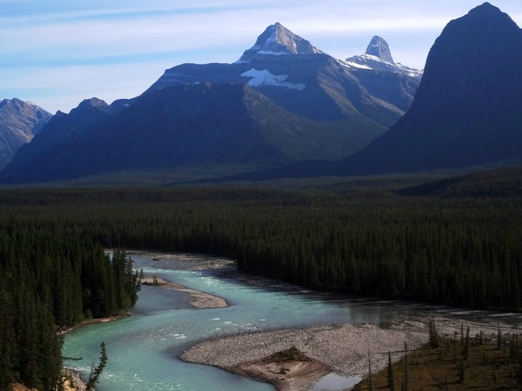 Jasper Banff Park Ice-Highway, Ahtabasca River