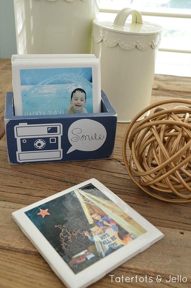 Gift Idea: DIY Instagram Coasters in Custom Box! -- Tatertots and Jello