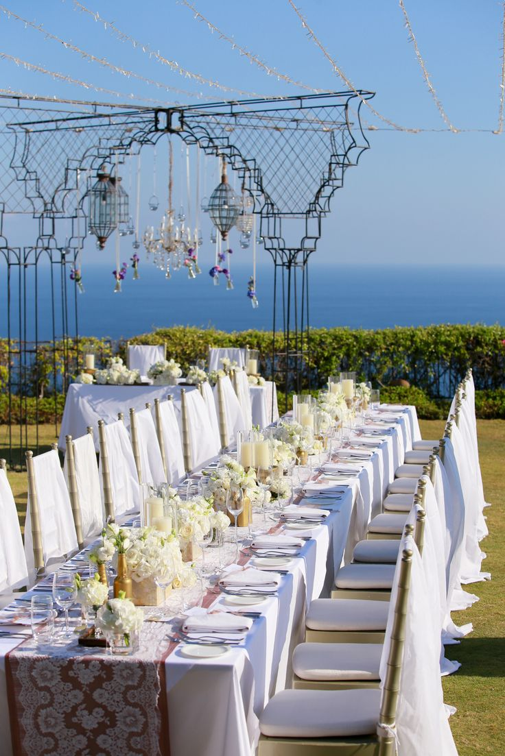 Guest Table with back drop of Bridal Table c by Tirtha Bridal Uluwatu Bali