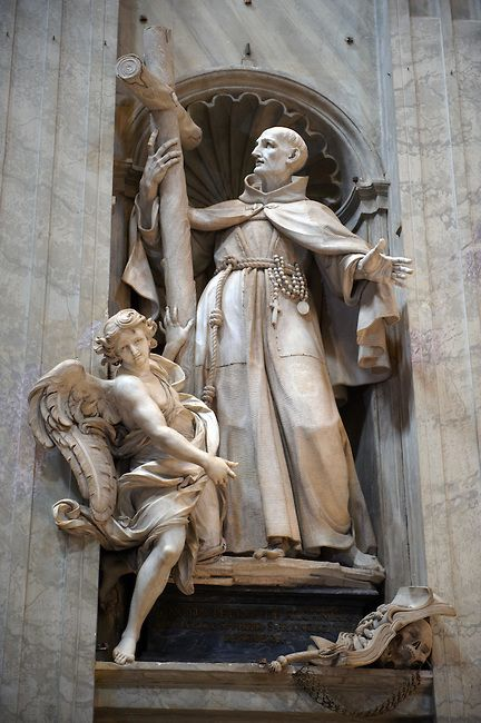 Statue in St Peters Cathedral, The Vatican. Rome
