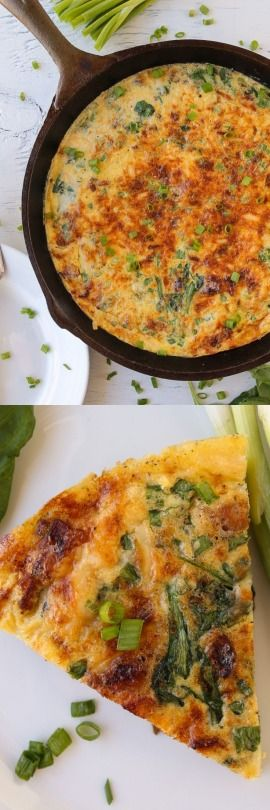 Bacon. Gouda. and Spinach Frittata - The Food Charlatan // This is easy and healthy! And full of bacon.