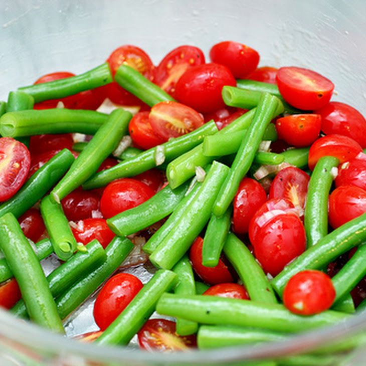 Green Bean and Cherry Tomato Salad | Green Beans | Pinterest