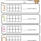 This (free) printable can be used to reinforce the concept of Number Bonds to 10.It uses ten frames to support students and is part of my 'Mental Additi...