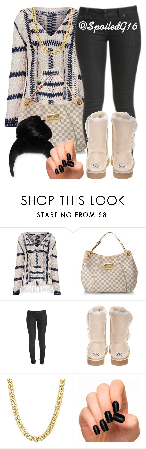 """""""Touch Of Beige."""" by spoiledg16 ❤ liked on Polyvore featuring Anna Kosturova, Louis Vuitton, Wet Seal, UGG Australia and Incoco"""